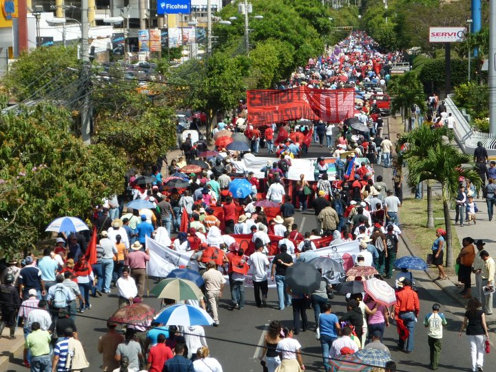 March in Tegucigalpa, via Adrienne Pine