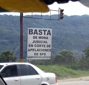 Basta de mora judicial en corte de apelaciones en SPS 'Honduras en justicia'