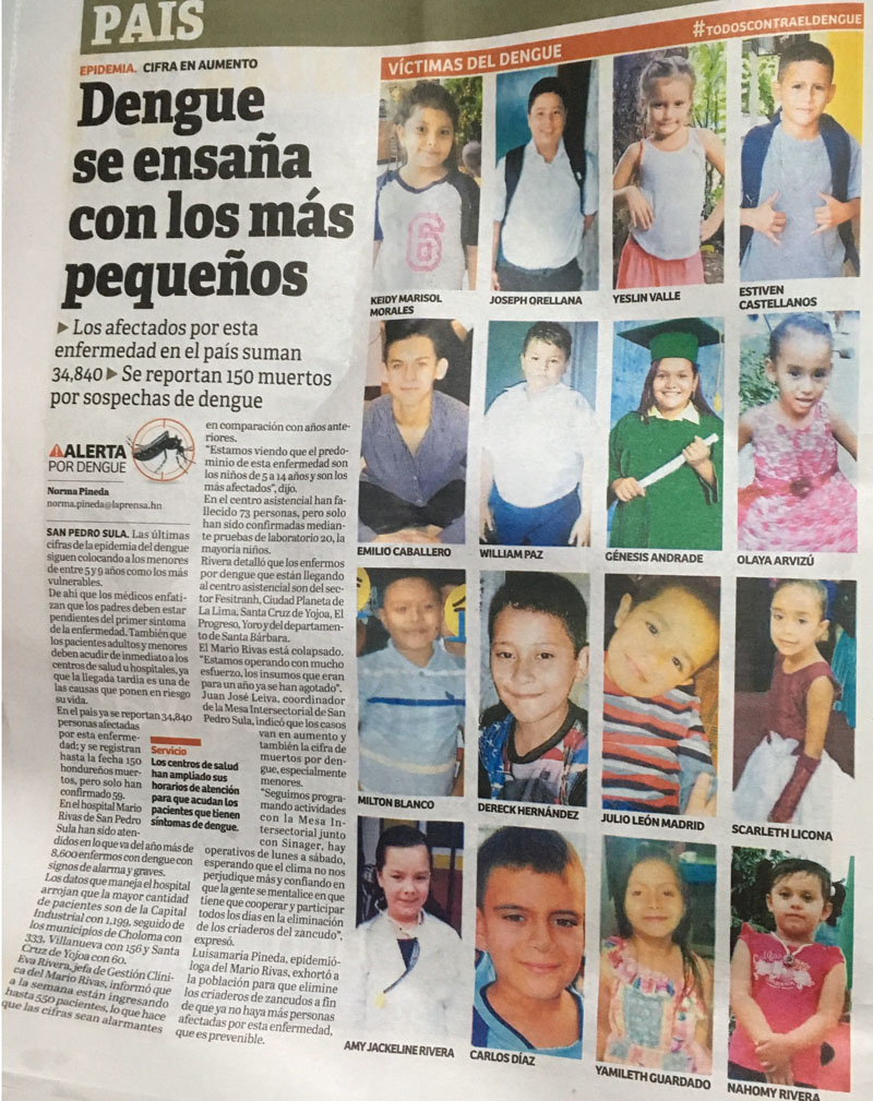 Kids dead from dengue